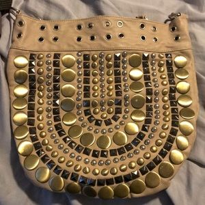 Studded chain pink bag